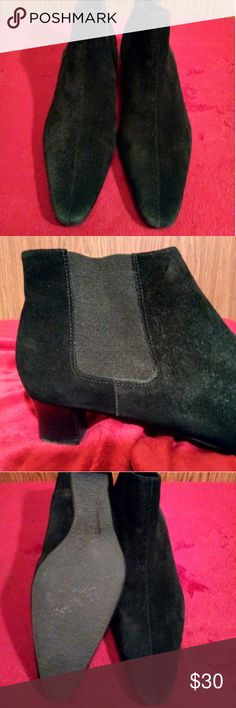Unisa suede boots Pre-loved Unisa black suede pointy ankle boots, elastic on the sides. Unisa Other