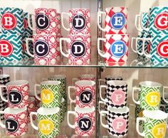 Monogrammed Mugs - no one could steal mine at work!