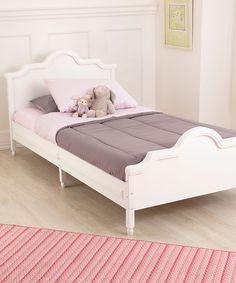 Look at this #zulilyfind! KidKraft White Raleigh Twin Bed by KidKraft #zulilyfinds