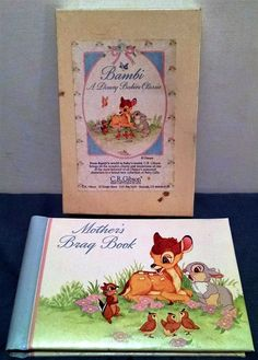 Vtg 1977 Disney Bambi Mother's Bragbook Photo Album by C. R. Gibson New Orig Box by Sharv50 on Etsy