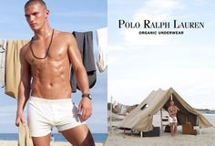 Polo by Ralph Lauren Organic Underwear. Kerry Degman model