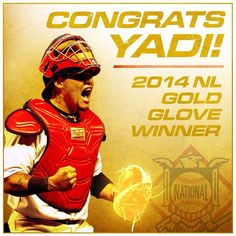 Lucky number 7. Congrats to catcher Yadier Molina on earning his 7th consecutive Gold Glove Award!