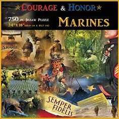 Americana Souvenirs and Gifts Courage and Honor Marines Puzzle *** Find out more about the great product at the image link.