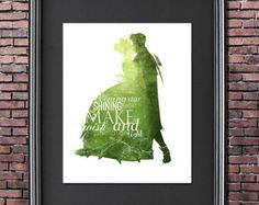 Alice in Wonderland 8x10 Poster DIGITAL by LittoBittoEverything