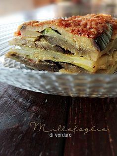 Millefoglie di verdure * Vegetable mille-feuille #vegan #vegetarian