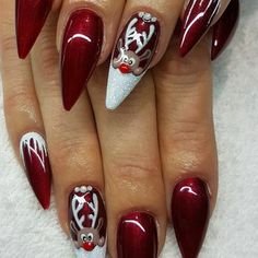 20 Trending Winter Nail Colors Design Ideas For 2020 Pretty Acrylic Nail Designs For Xmas Best 25 Christmas 80 Festive Christmas Nails Designs Anyon. Christmas Nail Art Designs, Holiday Nail Art, Winter Nail Designs, Winter Nail Art, Colorful Nail Designs, Winter Nails, Spring Nails, Summer Nails, Xmas Nail Art