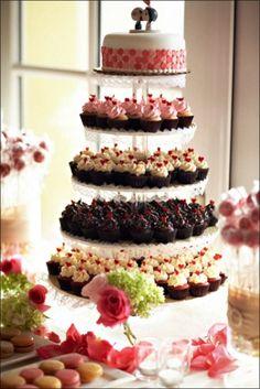 Torre de Cupcakes y Patel de Fondant. Sweet smile