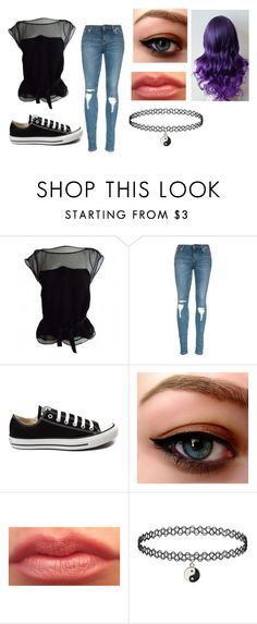 """Sky outfit 2"" by jessie-greynolds on Polyvore featuring Louis Vuitton, Converse, women's clothing, women, female, woman, misses and juniors"