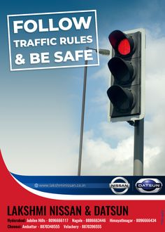 """The best drivers are aware that they must be beware! Follow traffic rules, save your future #RoadSafety #Traffic #FollowTrafficRules #LakshmiNissan"""" Road Safety Poster, Safety Posters, Datsun Car, Spare Parts, Nissan, Good Things, Cars, Future, Future Tense"""