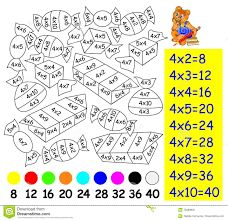 Illustration about Vector image. Developing children skills for counting and multiplication. Scale to any size without loss of resolution. Illustration of book, image, outline - 70489932 Math Coloring Worksheets, Kids Math Worksheets, Preschool Activities, Math Tables, Preschool Assessment, Addition And Subtraction Worksheets, Free Math, Math For Kids, Exercise For Kids