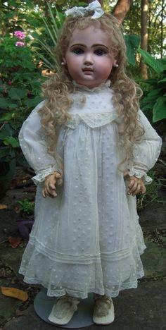 """28"""" Jumeau French Antique Doll w/Restoration - Layaway!"""