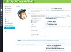 Synchronize all the three lists with the Mail Chimp account: Customers list. A personal list. Create a CRON job to make Mail Chimp synchronization run automatically every day. Image Key, Api Key, Email List, Marketing, Accounting, Advertising, Mailchimp, Templates, History
