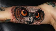 3D Owl Tattoo on Arm | Interior Design And Decorating Ideas
