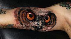 3D Owl Tattoo on Arm | Interior Design And Decorating Ideas