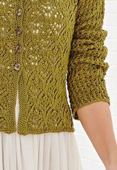 Crochet Jacket, Knit Or Crochet, Crochet Stitches, Lace Cardigan, Cardigan Pattern, Vintage Knitting, Lace Knitting, Bolero, Cute Cardigans