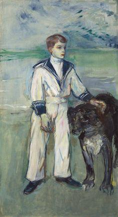 Henri de Toulouse-Lautrec (1864-1901) | L'Enfant au chien, fils de Madame Marthe et la chienne Pamela-Taussat | 1900s, Paintings | Christie's