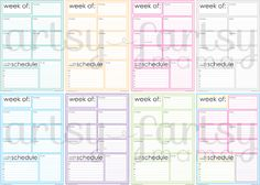 Weekly Planner Pages {without menu/shopping list}