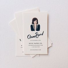 Anna Bond // Rifle Paper Co // personal branding Business Card Maker, Unique Business Cards, Business Card Design, Creative Business, Web Design, Logo Design, Name Card Design, Bussiness Card, Rifle Paper