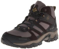Columbia Men's Woodburn Mid Waterproof Wide Hiking Boot,Mud/Toast,10 D US >>> More info could be found at the image url.