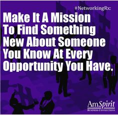 #NetworkingRx: What is something about you that is likely new to many?