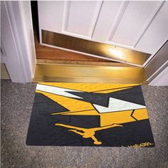 NIKE JORDAN 7 VII BLACK YELLOW BEDROOM CARPET BATH OR DOORMATS