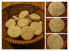 make a ball of clay/dough and press down onto subject to capture the imprint.