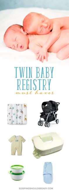 Practical items for a twin baby registry. You don't need two of everything! See which items are absolute must-haves for your twin registry list.