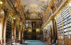 Brevnov Monastery and Strahov Monastery plus Brewery Walking Tour in Prague in Czech Republic Europe Beautiful Library, Dream Library, Future Library, Prague Attractions, Vatican Library, Vatican City, Santa Sede, Benedictine Monks, Old Libraries