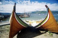 The traditional Bindalsbåt a kind of boat that is similiar to the old viking ships. Norway Viking, Norway Travel, Viking Ship, Airplane View, Vikings, Scotland, Coastal, Old Things, Ships