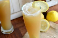 Lemon, pear  beer sangria