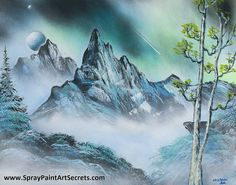 Get a Free Lesson at www.SprayPaintArtSecrets.com We teach you how to paint fun things like cosmic art and planets, landscapes, underwater, waterfalls and so much more.