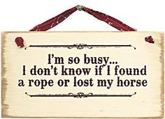 I'm so busy . I don't know if I found a rope or lost my horse. Cowboy Quotes, Horse Quotes, Sign Quotes, Me Quotes, Funny Quotes, Cowboy Humor, Farm Quotes, Angel Quotes, Equestrian Quotes