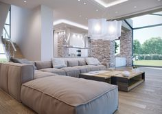 Luxury House Living Room by Stratos D. Zolotas