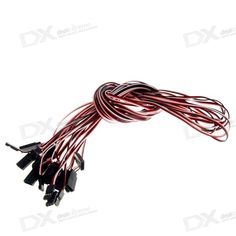 1000mm 3-Pin Servo Leads Connection Extension Cables (10-Pack). . Tags: #Hobbies #Toys #R/C #Toys #Repair #Parts #and #Tools