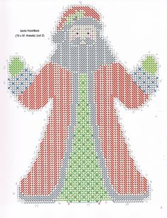 HEARTWARMING SANTAS by JOAN GREEN 4/4 - FROM A FESTIVE CHRISTMAS IN PLASTIC CANVAS BOOK ELEVEN