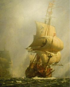 Moby Dick, Bateau Pirate, Old Sailing Ships, Pirate Art, Ship Of The Line, Full Sail, Ship Paintings, Wooden Ship, Nautical Art