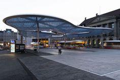 Aarau Bus Station Canopy by Vehovar & Jauslin Architektur