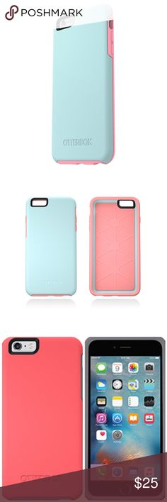 Otterbox iPhone 6/6s Symmetry Case Stylish and practical phone protection meet in these awesome symmetry cases from Otterbox. Will fit an iPhone 6/6s. New, never opened. Three colors available: Blue/Pink, Pink/Grey, Navy/Light Blue. OtterBox Accessories Phone Cases