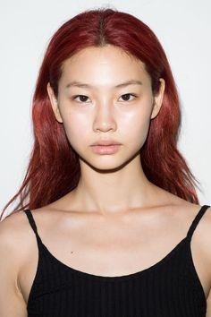 The faces of the season – unadorned and before the hype Dark Red Hair, Red Hair Color, Red Hair On Asian, Burgundy Color, Dye My Hair, New Hair, Red Hair Inspo, Aesthetic Hair, Grunge Hair