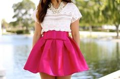pink skirt nice fashion for women #kelly751 #pink skirt #pink #skirt #pinkfashion   www.2dayslook.com