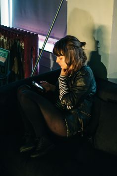 Lauren Mayberry of CHVRCHES, New York, 2013, photo by Rachael Wright