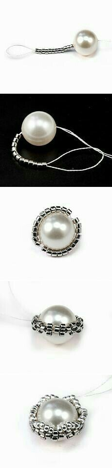 bezeling a round bead - love this technique #jewelryideas