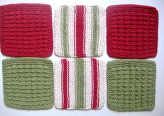 Dish Cloths  Wash Cloths  Hand Knit  Brick Red by CozyKitchenKnits, $18.00