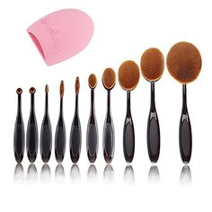Makeup Brushes SQDeal 2016 Professional 10 Pcs Soft Oval Toothbrush Makeup Brush Sets Foundation Brushes Cream Contour Powder Blush Concealer Brush Makeup Cosmetics Tool Set  Brush Cleaner >>> Continue to the product at the image link.