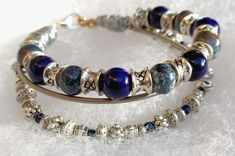 Elton John Guitar String Bracelet with Blue by ImagineLovingArt