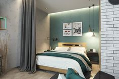 Дизайн квартиры - студии 35 кв. м со спальней в нише - Дизайн интерьеров | Идеи вашего дома | Lodgers