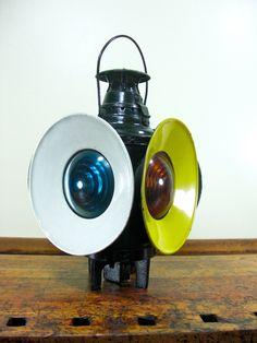 Vintage Railroad Lantern Dressel Switch by NorthboundSalvage, $225.00