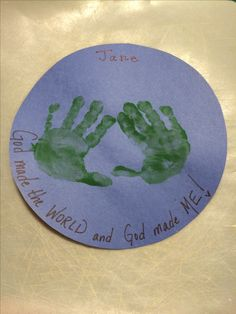 Sweet little craft for our 2 and 3 year olds' lesson on Creation.