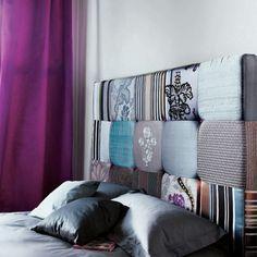 Enchanting Bedroom Design Ideas with Fabric Headboard
