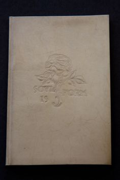 """Oliver Goldsmith, 1730?-1774. The deserted village. [London, E. Arnold : New York, S. Buckley], [1904]. Essex House Press, Campden, Gloucestershire, under the care of & with a frontispiece by C.R. Ashbee. """"150 copies only, and all on vellum. This is copy no. 89."""" The illus. are hand coloured; the first initial is in gold leaf, the other initials are in red, blue or green. Vellum cover embossed with floral emblem and the words: Soul is form."""